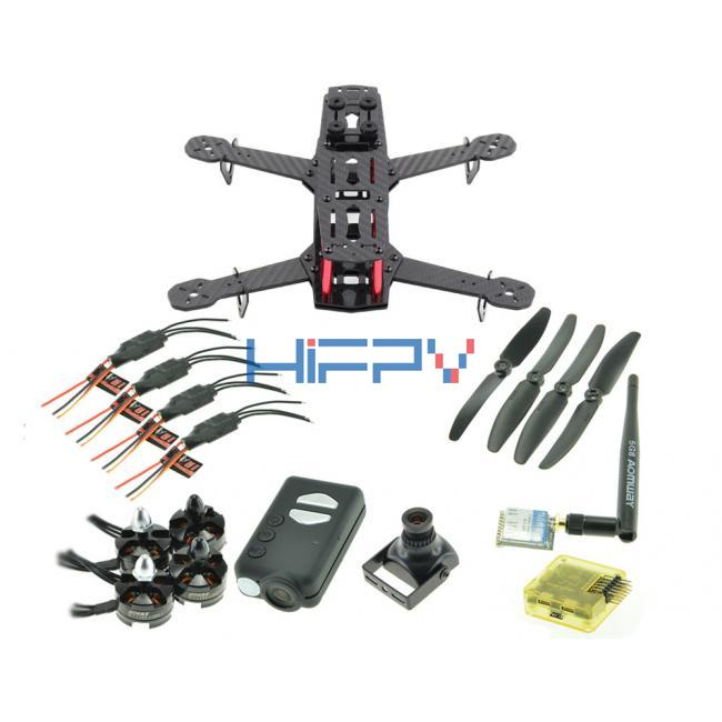 RC250 Ultra Light Carbon Fiber Quadcopter Multicopter Frame Set with Mobius and 5.8G VTx