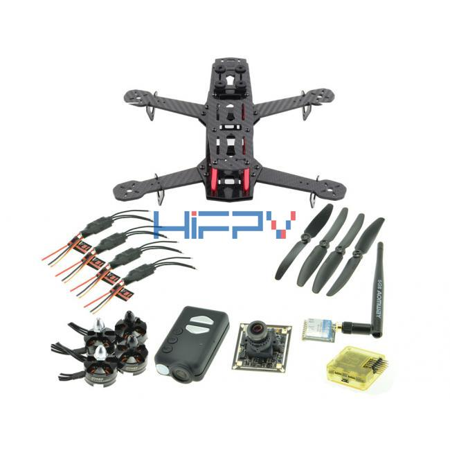 ZMR250 Full Carbon Fiber Quadcopter Multicopter Frame Set with Mobius and 5.8G VTx