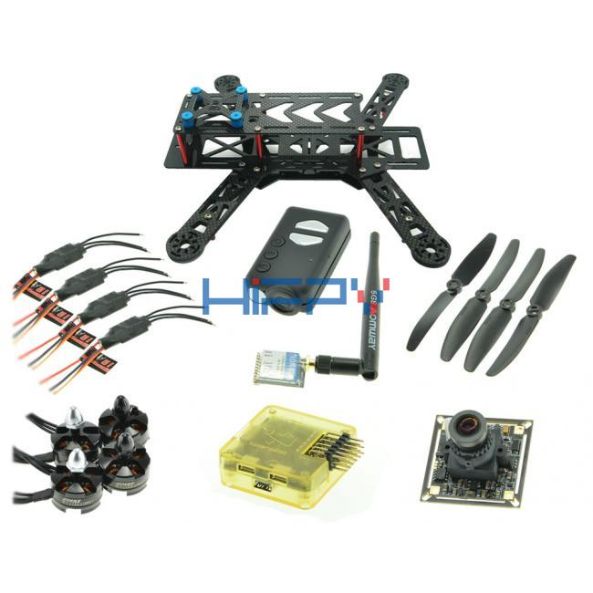 RC280 Ultra Light Carbon Fiber Quadcopter Multicopter Frame Set with Mobius and 5.8G VTx