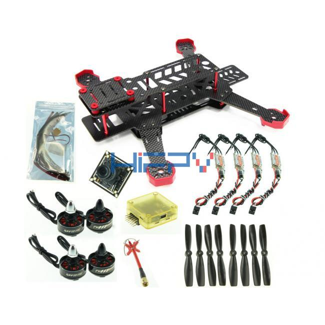 DL265 Ultra Light Full Carbon Fiber Quad Frame Set for FPV Racing
