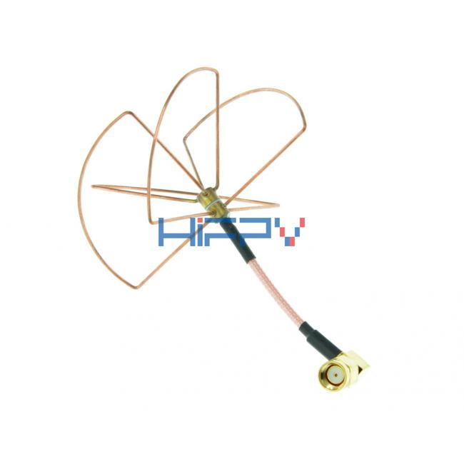 2.4Ghz CP Omni Rx Antenna with Four lobes for FPV