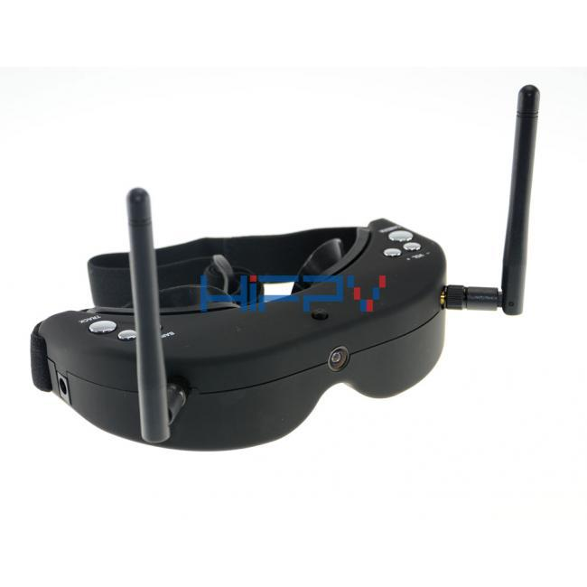 SkyZone FPV Goggles 5.8GHz Dual Diversity 40CH Receiver with Head-Tracker