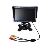 7 Inch LCD FPV Monitor HD 800x480 Snow Screen Display w/ 2 AV Inputs
