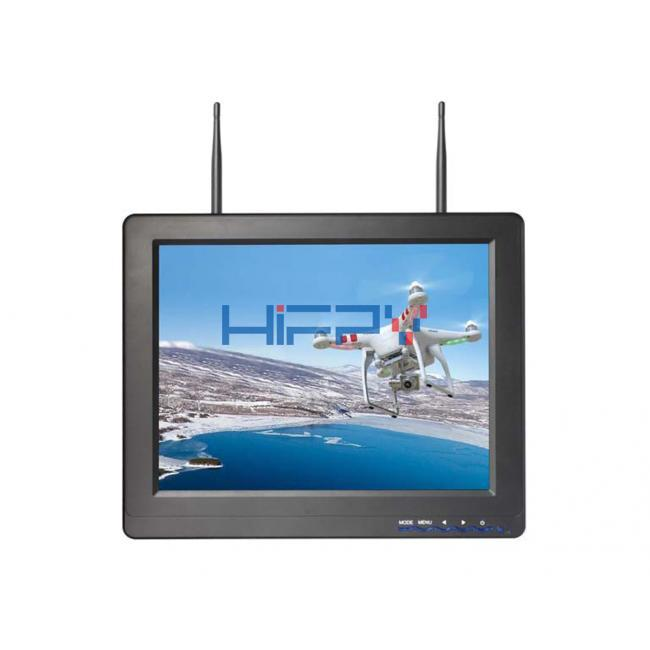 5.8G 40ch 12.1 Inch FPV Monitor Built in Dual receiver Snow Screen Display