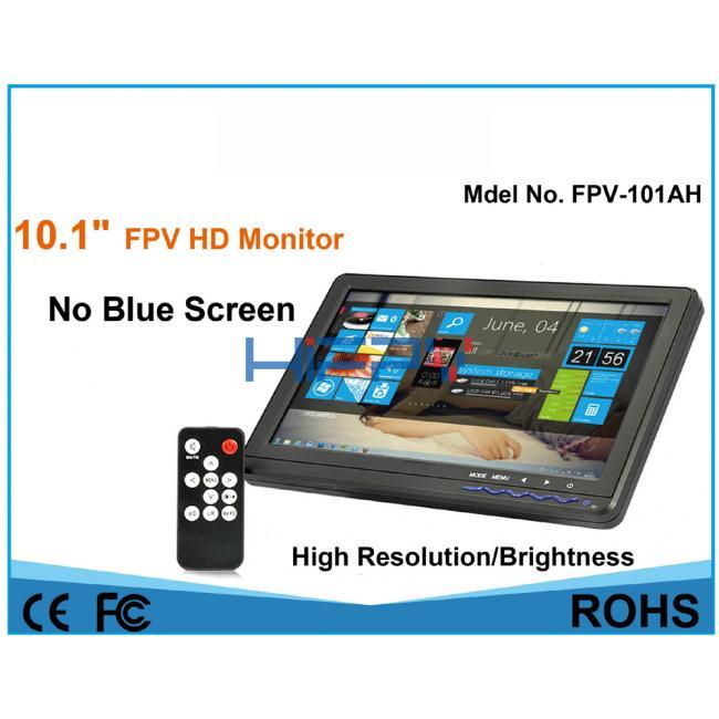10.1 Inch HD High Brightness LED FPV Monitor VGA HDMI Ports
