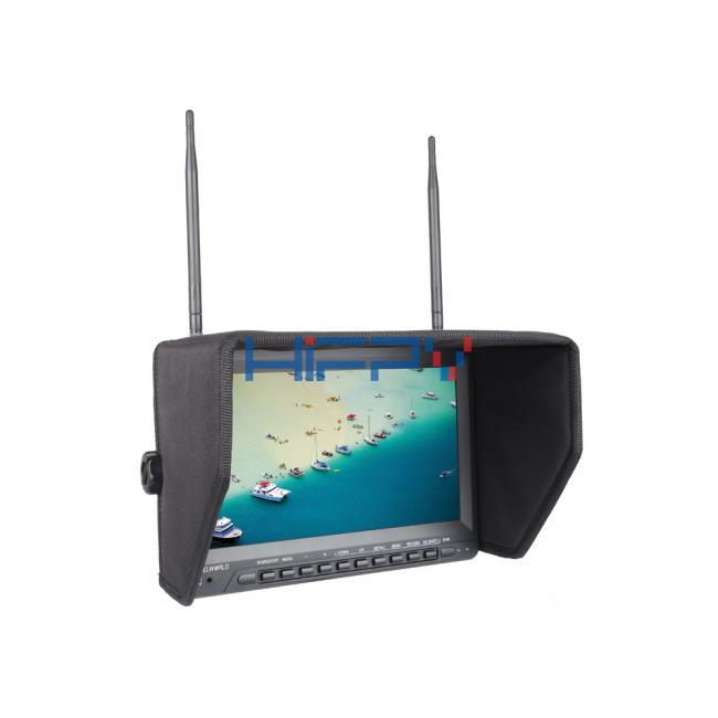 5.8G 40ch 10.1 Inch FPV Monitor HD 1024*600 Inbuilt DVR and Battery