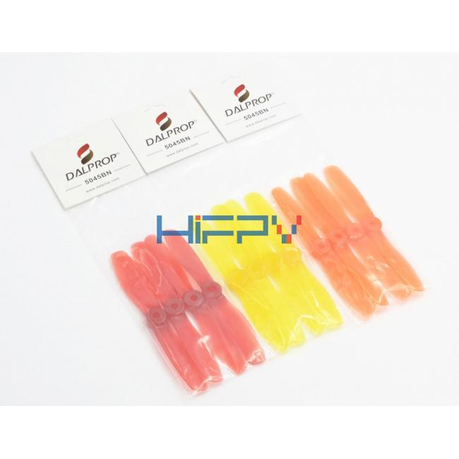 DALPROP 2 Pairs 5045 V2 CW/CCW Bullnose Crystal color Props for Mini 200 RC250/280 QAV250 FPV Racing