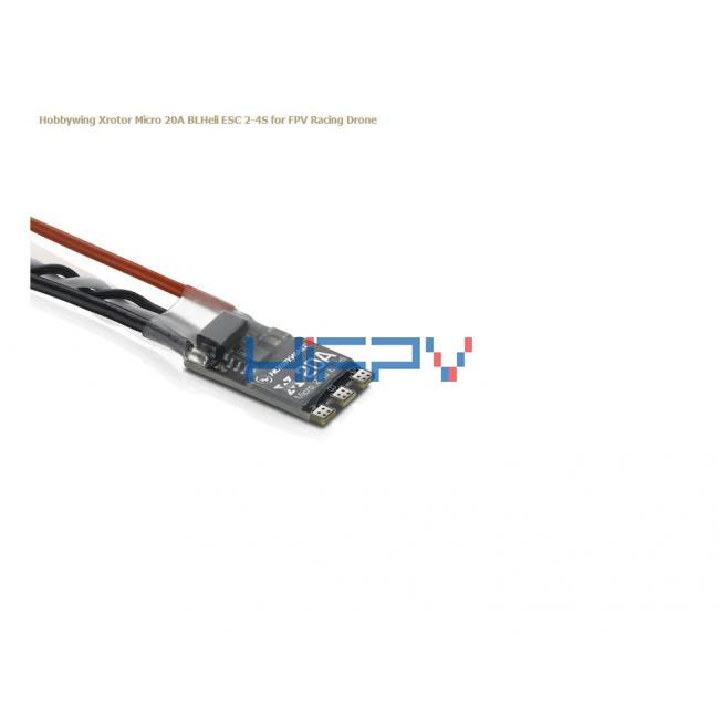 Hobbywing XRotor Micro BLHeli 20A 2-4S F396 ESC Support OneShot125 w/ Wires for FPV Drones